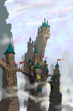Concept artwork from earlier this year #fantasy #castle