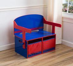 ławka /biurko 2 w 1  niebiesko czerwone #184