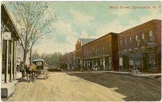 Springville, NY - postcard