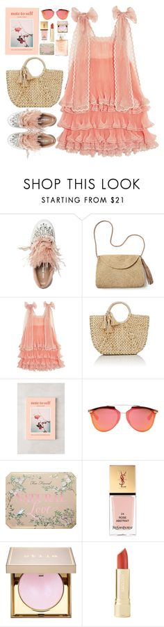 """Elsa"" by unorthodoxjukebox ❤ liked on Polyvore featuring Miu Miu, Mar y Sol, Chloé, Buji Baja, Urban Outfitters, Christian Dior, Yves Saint Laurent and Stila"