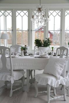 Pretty dining area.