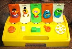 Busy Poppin' Pals 1980s sesame street toy. I loved mine.
