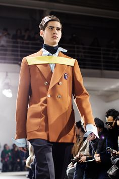 Raf Simons Fall/Winter 2013. Love the slick + spiky hairstyles