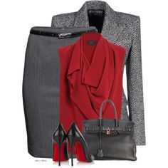A fashion look from November 2014 featuring crepe shirt, herringbone blazer and H&M. Browse and shop related looks.
