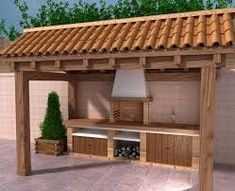 Amazing Outdoor Patio Barbecue Grill Ideas: Do you think that having a piece of BBQ stand in your house garden will bring a source of thrilling entertainment in the nightlife gatherings. Barbecue Design, Pool House, Patio Design, Backyard Living, Outdoor Kitchen, Grill Design