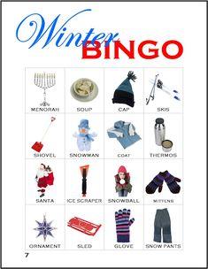 Bilderesultat for pinterest winter bingo