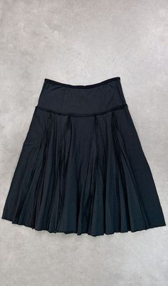 Pleated Skirt $440.00 double-layered medium-weight jersey, hand-stitched, visible outside seams and pleats