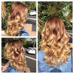 Curly Golden Blonde