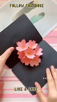 Diy Paper Crafts, Paper Flowers Craft, Diy Crafts Hacks, Diy Crafts For Gifts, Diy Arts And Crafts, Cute Crafts, Diys, Instruções Origami, Oragami