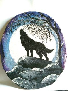 painted rocks wolf - Yahoo Image Search Results