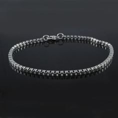 "Steel by Design Stainless Steel Box Chain Ankle 10"" Bracelet 041O #SteelbyDesign #BoxChain"