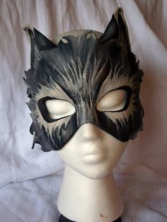 Custom Leather Wolf Mask by MirabellaTook on Etsy, $79.97