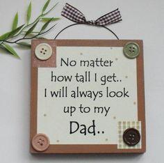 Best Dad/ Fathers day/ Birthday Wooden Keepsake Gift Plaque Brown Craftworks Originals