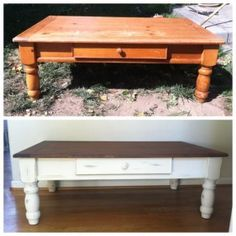 little bit of paint: refinished coffee table. my current coffee