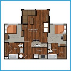 College apartment bedrooms on pinterest college - 2 bedroom apartments in college station ...