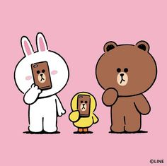 Cony Brown, Brown Bear, All You Need Is, Duck Wallpaper, Bear Gif, Bear Character, Samsung Galaxy Wallpaper, White Rabbits, Line Friends