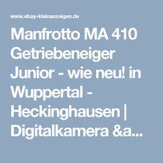 Manfrotto MA 410 Getriebeneiger Junior - wie neu! in Wuppertal - Heckinghausen | Digitalkamera & Zubehör gebraucht kaufen | eBay Kleinanzeigen