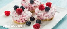 Mini yoghurt ijstaartjes recept - Taart - Eten Gerechten - Recepten Vandaag