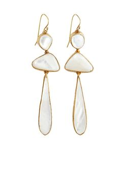 Mother of Pearl Druzy Stone Earrings | Calypso St. Barth