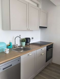 Ideen Wohnen Knoxhult IKEA grey kitchen How To Choose Suitable Home Theater Seating Do not be surpri Grey Ikea Kitchen, Grey Kitchen Tiles, Ikea Kitchen Design, Grey Kitchens, Buy Kitchen, Kitchen Interior, Home Kitchens, Kitchen Decor, Kitchen Small
