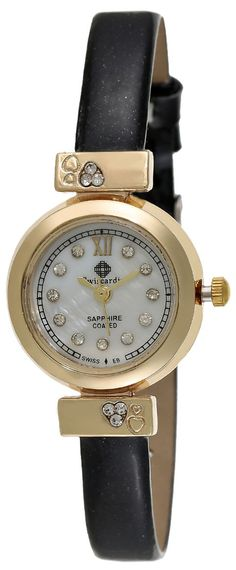 Swiscardin Women's White Dial Leather Band Watch - 11432AW-L price, review and buy in UAE, Dubai, Abu Dhabi | Souq.com
