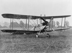 Royal Aircraft Factory B.E.2 two-seat reconnaissance and light bomber biplane.