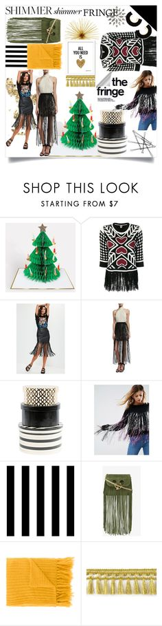 """SHIMMER SHIMMER: FRINGE"" by sonotsizezero ❤ liked on Polyvore featuring I'm Isola Marras, Missguided, Haute Hippie, DCWV, ASOS, Tempaper, J.W. Anderson and MP di Massimo Piombo"