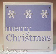 Using Memory Box Grand Merry Christmas die