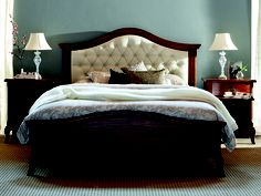 Chelsea Lane Astrohide Queen Bed Frame and matching sidetables from Snooze.