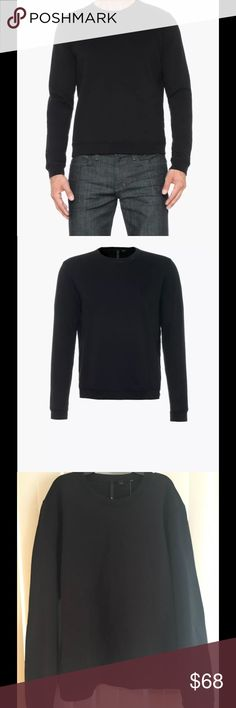 Joe's Jeans Luxe Collection Nico  Sweatshirt M JOE'S JEANS MEN'S SWEATSHIRT  Part of Joe's 24/7 Sport Luxe Collection, the Nico Long Sleeve Pullover is a basic crew neck pullover with mesh inserts at the shoulder and side seams. Featuring a heavy weight vintage terry fabric and stretch rib banding at the neckline, cuffs, and hem, this is a casual wardrobe staple. Mens Sport Luxe Tops, Mens Sweater, Pullover  100% COTTON Joe's Jeans Sweaters Crewneck