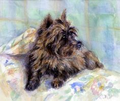 Cairn Terrier Dog Portrait Poster by Olde Time Mercantile. All posters are professionally printed, packaged, and shipped within 3 - 4 business days. Choose from multiple sizes and hundreds of frame and mat options.