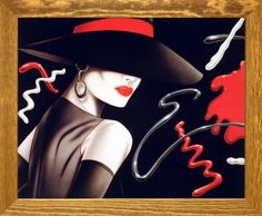 Le Chapeau Exotic Woman Michael Woodard Vogue Fine Wall Decor Art Print Poster ** Learn more by visiting the image link. Art Prints, Poster Prints, Poster Pictures, Wall Art Designs, Female Art, Online Painting, Art, Fine Art Posters, Canvas Pictures
