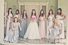 Absolutely beautiful vintage style wedding party wearing our Goddess By Nature Signature Ballgown Dress in Blushing pink, Platinum Silver & Ivory. Just stunning on all different heights, shapes & sizes ♥ AUD$350 #bridesmaids #bridal #gown #wedding #formal #cocktaildress #dress @Bride to Be Magazine @Bride.com.au @Brides @Brides Magazine @Wedding Inspirasi @Fashion Society  #wedding #bridesmaids #multiway #dresses