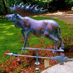 3-D Copper Moose Weathervane Patina Finish Large HUGE 3 Dimensional Moose Decor #Handcrafted