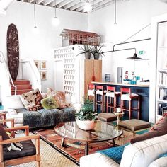 Boho Home :: Beach Boho Chic :: Living Space Dream Home :: Interior + Outdoor :: Decor + Design :: Free your Wild :: See more Bohemian Home Style Inspiration Decoration Inspiration, Room Inspiration, Interior Inspiration, Decor Ideas, Room Ideas, Beautiful Decoration, Home Decoration, Home Living Room, Living Room Designs