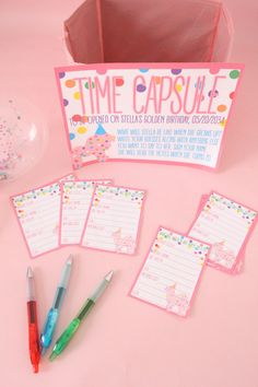 "First Birthday ""Time Capsule"". Have guests guess what your baby will by like when she's all grown up and wait to give it to her till then! 