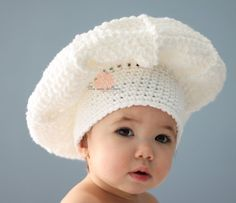 Crochet Baby Hat Beanie Chef Hat - Any Size - made to order. $30.00, via Etsy.  by Anna Dusek #crochethat #annadusek