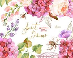 This set of 6 high quality hand painted watercolor floral Elements(flowers, leaves, berries etc). Perfect graphic for wedding invitations, christmas, greeting cards, photos, posters, quotes and more.  -----------------------------------------------------------------  INSTANT DOWNLOAD Once payment is cleared, you can download your files directly from your Etsy account.  -----------------------------------------------------------------  This listing includes:  40 x Floral element in PNG with…