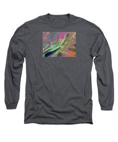 Expressionist Abstract Long Sleeve T-Shirt featuring the digital art Light Show Fourteen by Expressionistartstudio Priscilla-Batzell