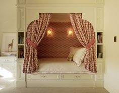 Charming bed nook by Palmer Weiss