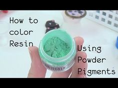 Mixing resin with pearl ex. Good tip.Resin Craft Guide #1 How to Properly Mix in Powder Pigments - YouTube