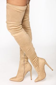 b4b19a247c5 Vicky Over The Knee Boot - Taupe