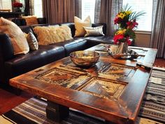 Love this idea. An old door for a coffee table. 22 Cleverly Repurposed and Revamped Coffee and End Tables : Home Improvement : DIY Network Diy Network, Diy Furniture, Doors Repurposed, Home Improvement, Repurposed Furniture, End Tables, Home Diy, Door Coffee Tables, Coffee Table