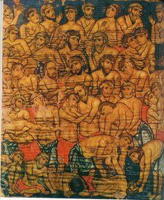 СОРОК МУЧЕНИЕОВ СЕВАСТИЙСКИХ фрагмент конец 12 - нач. 13 века Грузия