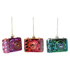 Camera Ornament Set Of 3