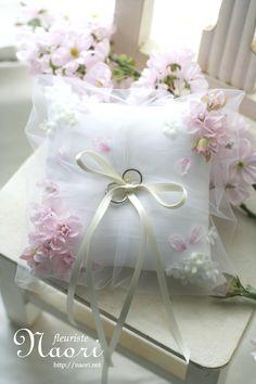 Ringpillow / cherry blossoms 桜のリングピロー
