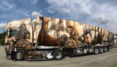Big Rig Trucks, Cool Trucks, Truck Paint Jobs, Lederhosen, Airbrush Art, Outfit, Vehicles, Painting, Truck