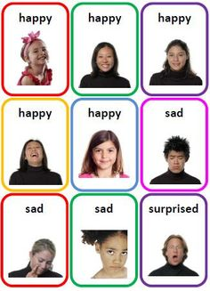 36 Emotions Photo Flash Cards Printable File Folder PDF by SENtoys, $.