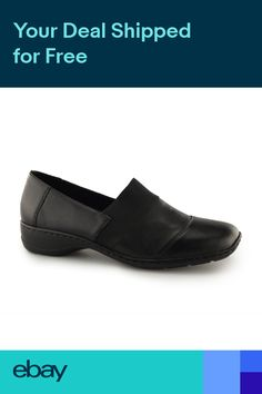 d4b7f0ff2be Rieker 58355-00 Ladies Womens Slip On Casual Comfort Wedge Loafers Shoes  Black
