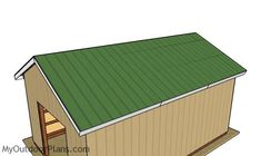 This step by step diy woodworking project is about free pole barn roof plans. This is PART 2 of the pole barn project. In this article I show you my take on building the trusses and how to complete the walls and roofing. Pole Barn Plans, Pole Barn Garage, Pole Barn Trusses, Woodworking Projects Diy, Woodworking Plans, Garage Blueprints, Roof Trim, Corrugated Roofing, Roof Structure